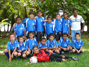 The AWB foundation funds new soccer uniforms for the team from Cocal Amarillo every two years.